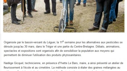 Presse - la commune ne veut plus de pesticides